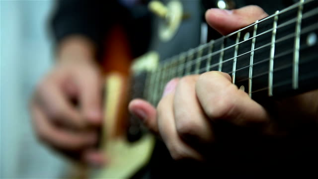 Guitarist Playing Solos video