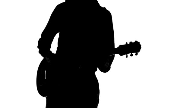 Guitarist silhouette video