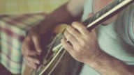 Guitarists  playing guitar and  bouzouki. video