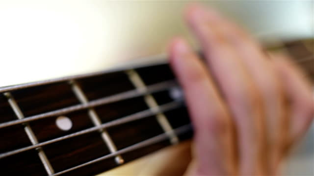 Guitarists Playing On Bass Guitar video