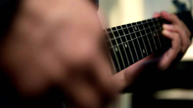Guitarists Playing On Guitar video