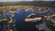 Gulf of St Tropez, Aerial view of Port Grimaud video