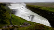 Gullfoss Falls in Iceland video
