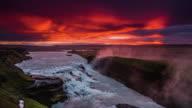 Gullfoss Waterfall at Sunrise - Iceland video