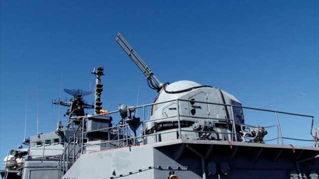 gun warship induced on the target video