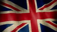 Gunny Sack Flag of British. video