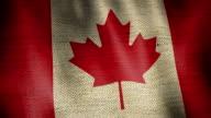 Gunny Sack Flag of Canada. video