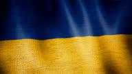Gunny Sack Flag of Ukraine. video