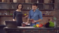 Guy comes with delivery food and expends chinese chopsticks lady video