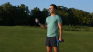 Guy engaged in sports outdoor. video