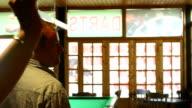 Guy is happy over dart throw video