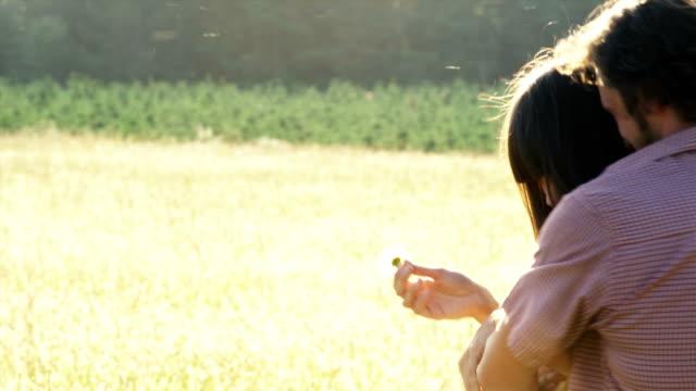 Guy Suprises Girlfriend in a Field video