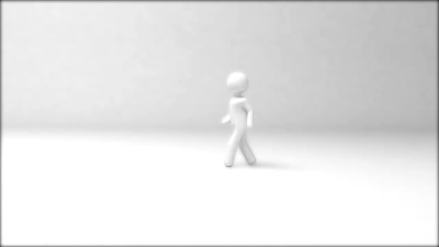 3D guy walking video