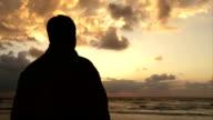 Guy Watching Sunset video