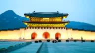 Gyeongbokgung Palace Dusk video