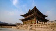 Gyeongbokgung Palace, Seoul, South Korea, HD Time lapse video