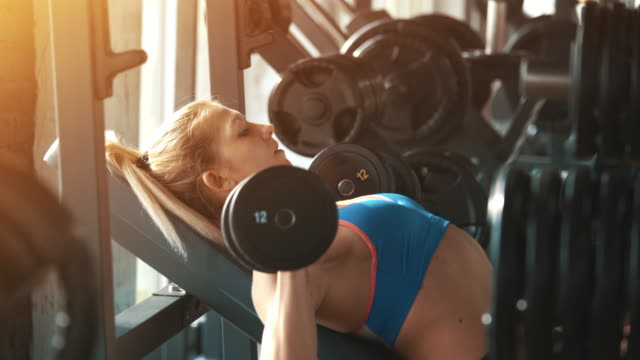 Gym workout. video