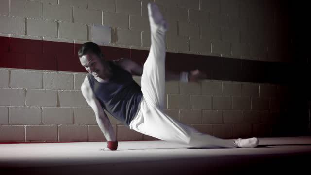 Gymnast floor work video