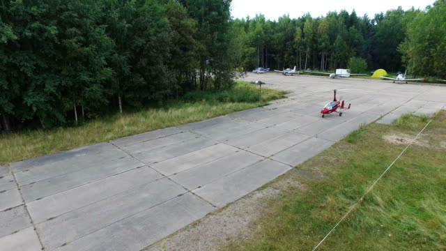 Gyroplan Prepares For Takeoff 4k video