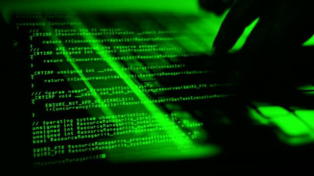 hacker typing on Laptop (loop) video