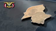 Hadramaut with Coat of arms animation map video