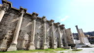Hadrian's Library in Acropolis Athens Greece video