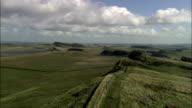 Hadrian's Wall  - Aerial View - England, Northumberland, Melkridge, United Kingdom video