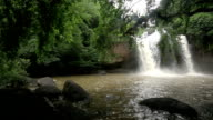 Haew Suwat waterfall Kao Yai national park World Heritage,Thailand, HD 1920x1080 clip. video