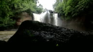 Haew Suwat waterfall Kao Yai national park World Heritage,Thailand, Camera slide HD 1920x1080 clip. video