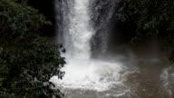 Haewsuwat waterfall at Khaoyai nationalpark, Thailand,Slow motion video