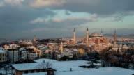 Hagia Sophia Winter Sunset Istanbul video