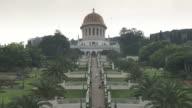 Haifa Bahai temple zoom in out video