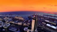 Haifa city port  Aerial view video
