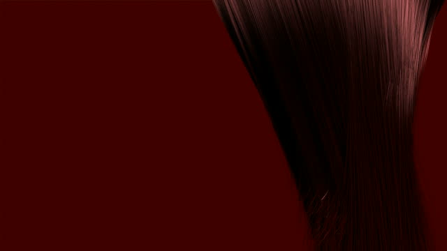 hair blowing red animation video
