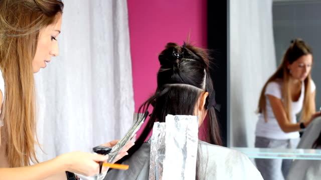 Hair coloring video