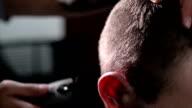 Hair cutting. Close up. video