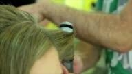 hair straighten video