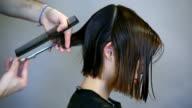 hair stylist  working  HD video video