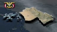 Hajjah with Coat of arms animation map video