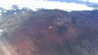 Haleakala National Park - Maui aerial views (Hawaii) video