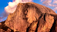 Half Dome time lapse video during sunset.  Yosemite National Park, California USA. video