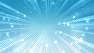 Halftone Stars Background Blue video
