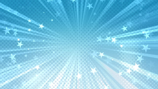 Halftone Stars Background Blue video