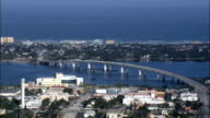 Halifax River At Daytona Beach  - Aerial View - Florida,  Volusia County,  United States video