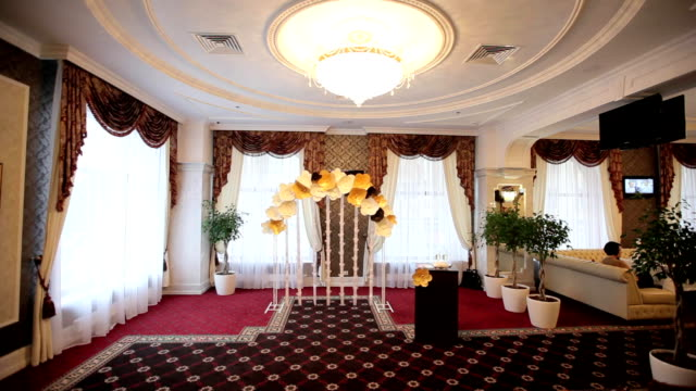 hall for wedding ceremonies festively decorated video