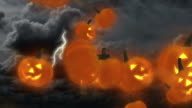 Halloween Jack-o'-lantern Pumpkins Flying video