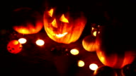 Halloween pumpkin head jack lantern video