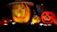 Halloween pumpkin head jack lantern video