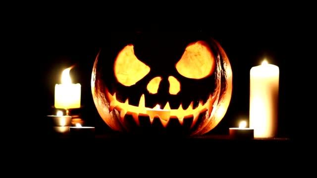 halloween pumpkin lantern video