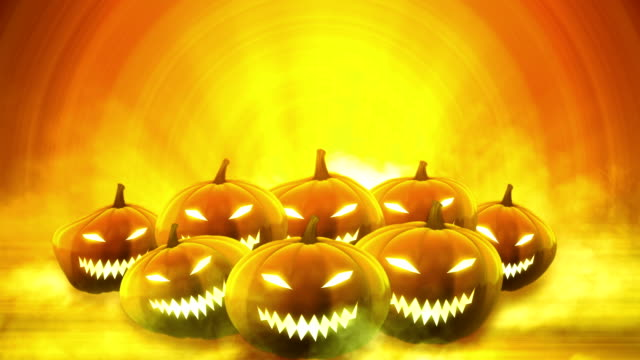 Halloween pumpkins background - Loop video